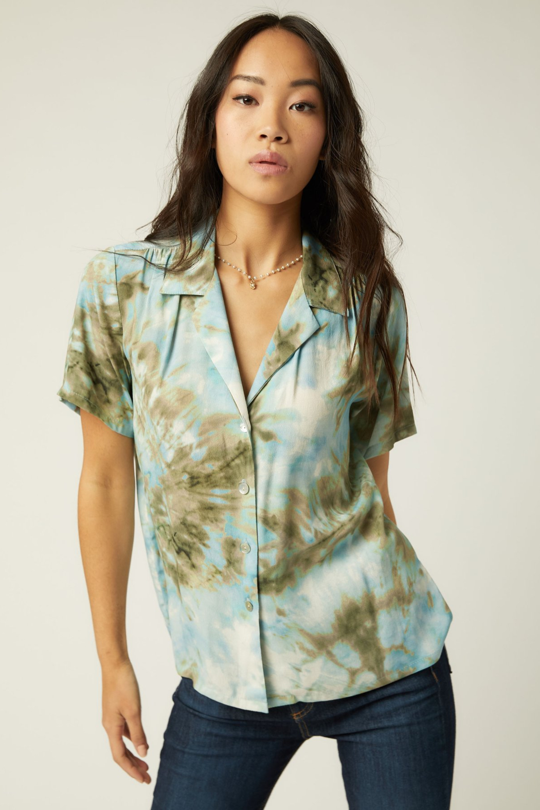 Fifteen Twenty 1F29069 - Camp Shirt - Front Cropped Image