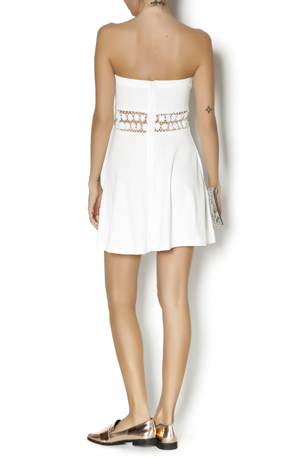 Coveted Clothing Strapless Emily Dress - Side Cropped Image
