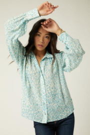 Fifteen Twenty 1F49508 - Shirred Button-Up Blouse - Front full body