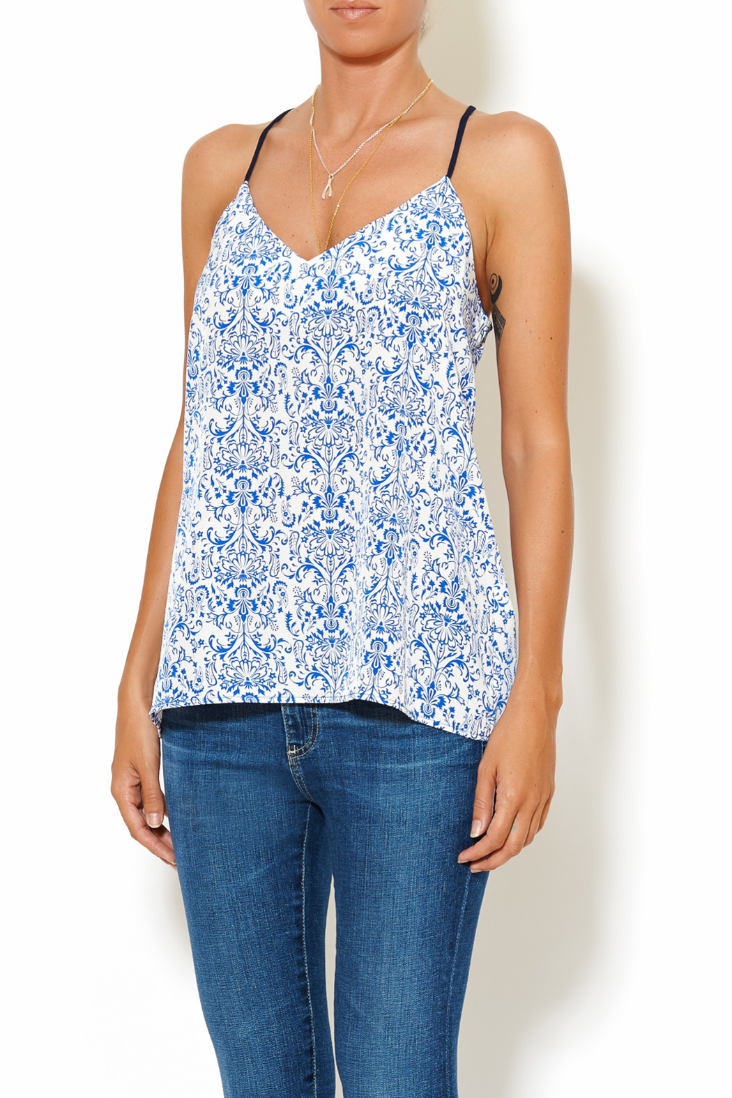 Chic Style Floral Resort Cami - Main Image