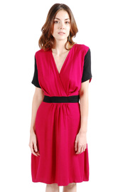 Shoptiques Product: Cross-Over Two-tone Dress