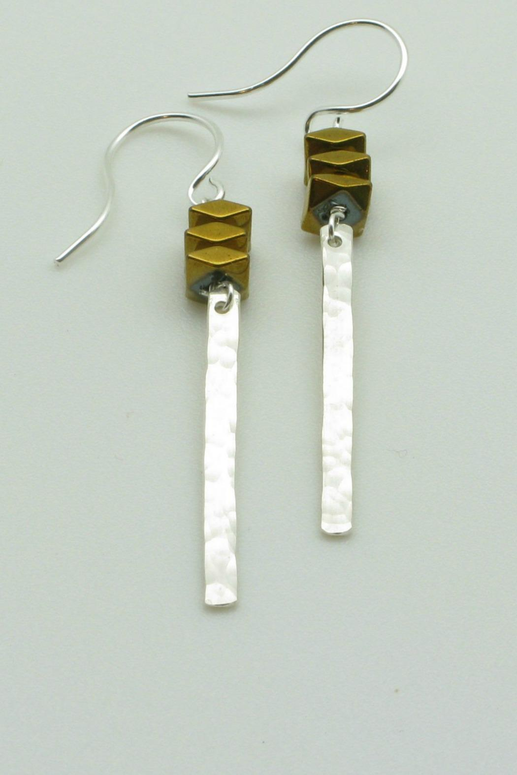 Magnolia Silver Bar Earrings - Main Image