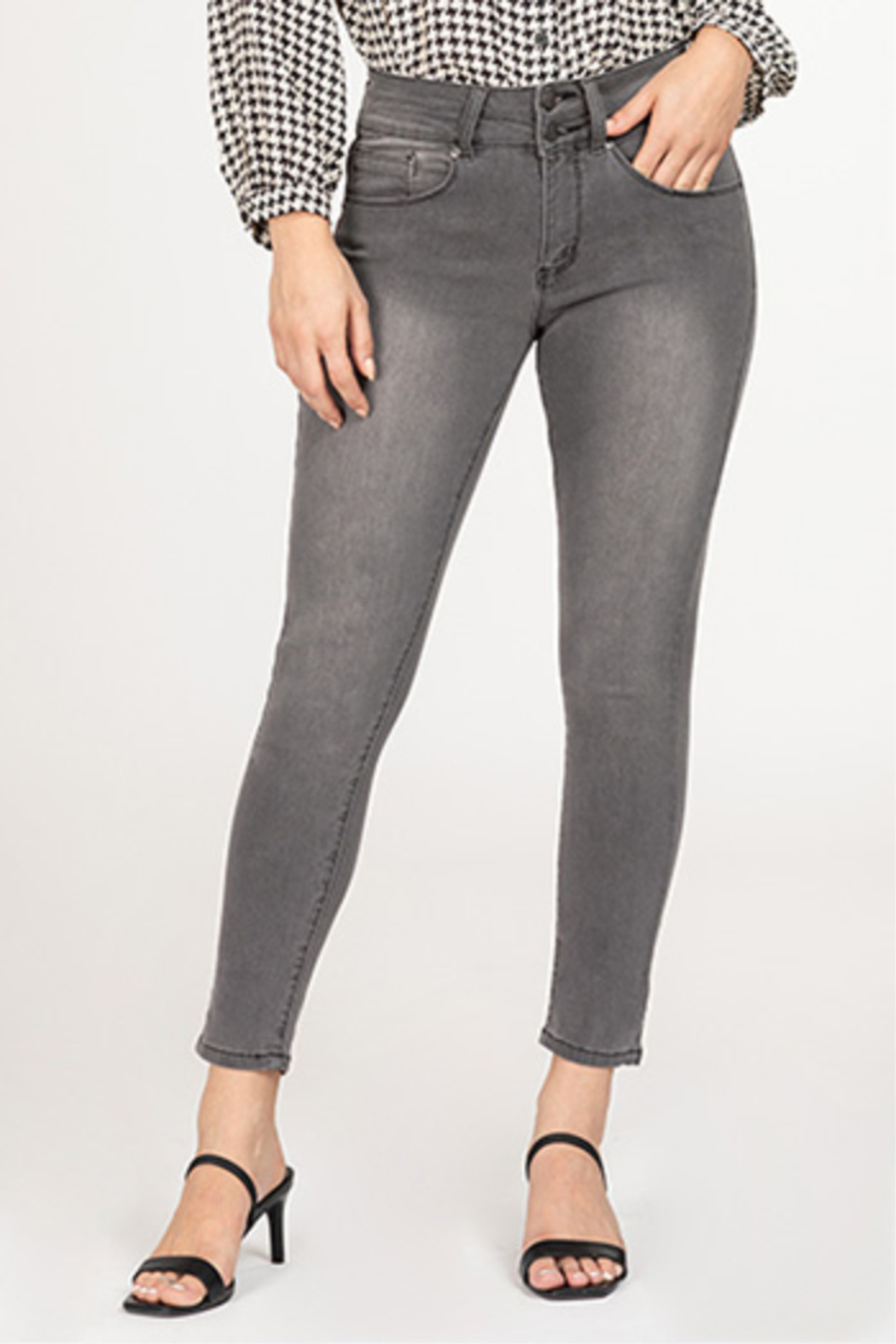 Lyn -Maree's 2 Button High Rise Ankle Jean - Main Image