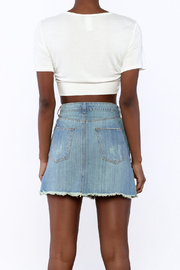 2 Hearts Twist-Knot Cropped Tee - Back cropped