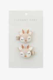 Elegant Baby 2 Pack Fawn Barrettes - Product Mini Image