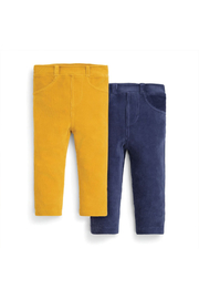 JoJo Maman Bebe 2 Pack Jersey Cord Jeggings - Front cropped