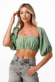 MNI LA 2 Piece Tube Top Bell Sleeve - Front cropped