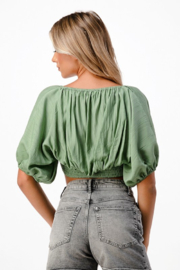 MNI LA 2 Piece Tube Top Bell Sleeve - Back cropped
