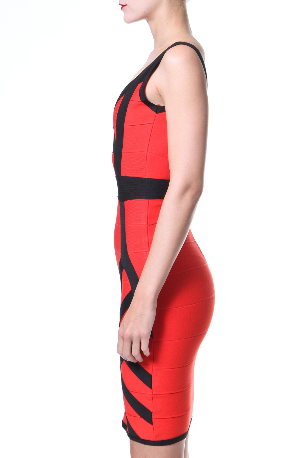 Madonna & Co 2-Tone Bodycon - Front Full Image