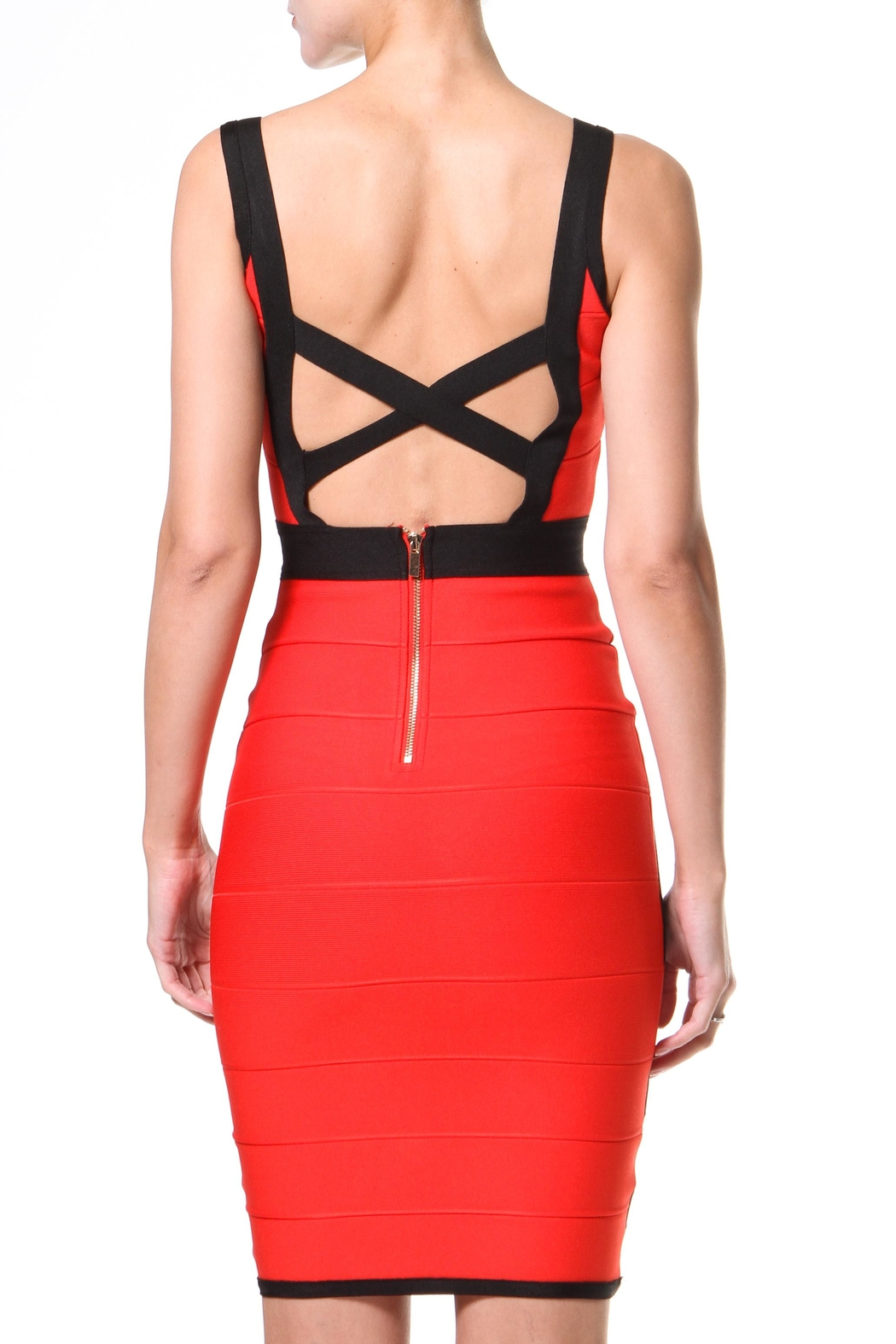 Madonna & Co 2-Tone Bodycon - Side Cropped Image
