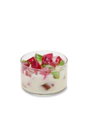 Primal Elements 2-Wick Color Bowl Candle - RASPBERRY ROSE - Front cropped
