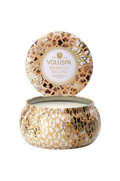 Voluspa 2 Wick Prosecco Bellini Maison Tin Candle - Alternate List Image