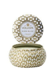 Voluspa 2 Wick Suede Blanc Maison Tin Candle - Product Mini Image