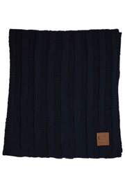 CC Beanie 2 X Wide Ribbed Scarf - Front cropped