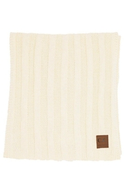 CC Beanie 2 X Wide Ribbed Scarf - Front full body