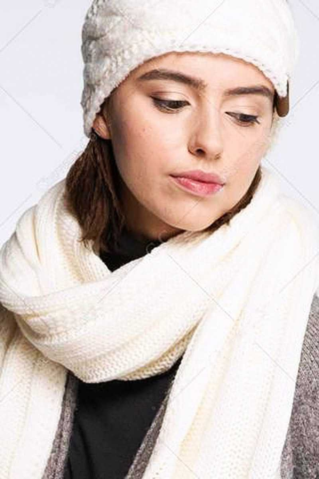 CC Beanie 2 X Wide Ribbed Scarf - Main Image