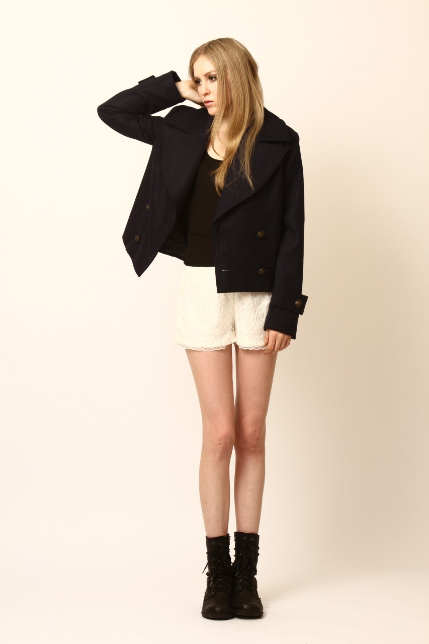 Dress Up Cropped Silas Peacoat - Front Full Image