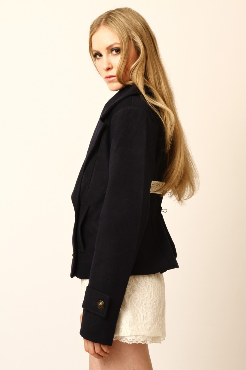 Dress Up Cropped Silas Peacoat - Side Cropped Image