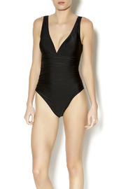 BeachCandy Shirred One Piece - Front cropped