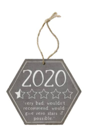 Sincere Surroundings  2020 Half Star Ornament - Front cropped