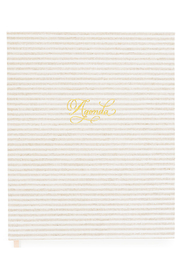 Sugar Paper 2021 Flax Stripe Planner - Front cropped