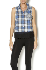 White Crow Coraline Plaid Top - Product Mini Image