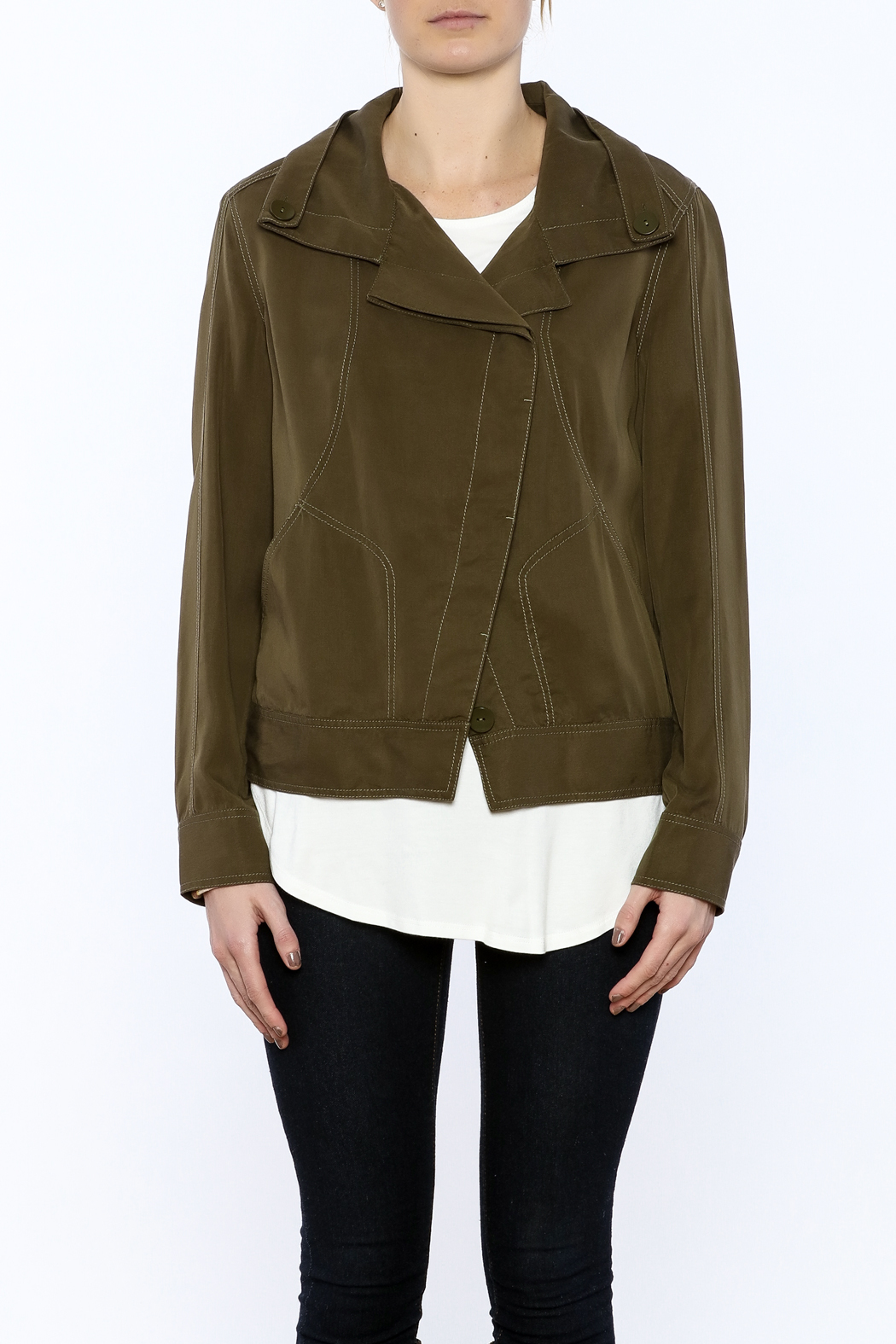 209 Group Light Weight Cropped Jacket - Side Cropped Image