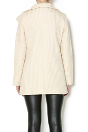 209 West Quilted Cream Jacket - Back cropped