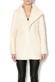 209 West Quilted Cream Jacket - Front cropped