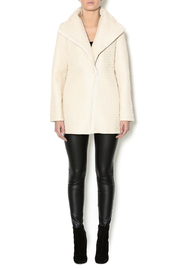 209 West Quilted Cream Jacket - Front full body