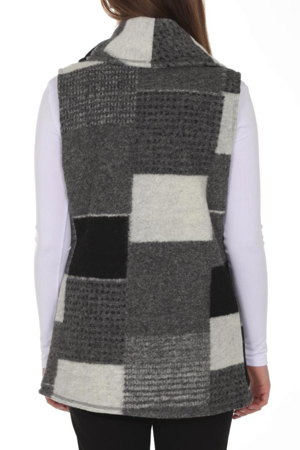 209 West Grey Patchwork Vest - Front Full Image