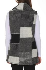 209 West Grey Patchwork Vest - Front full body