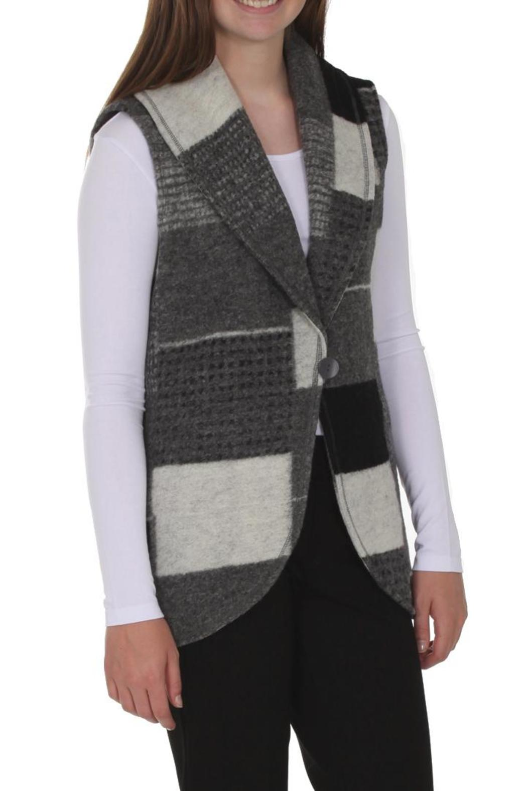 209 West Grey Patchwork Vest - Main Image