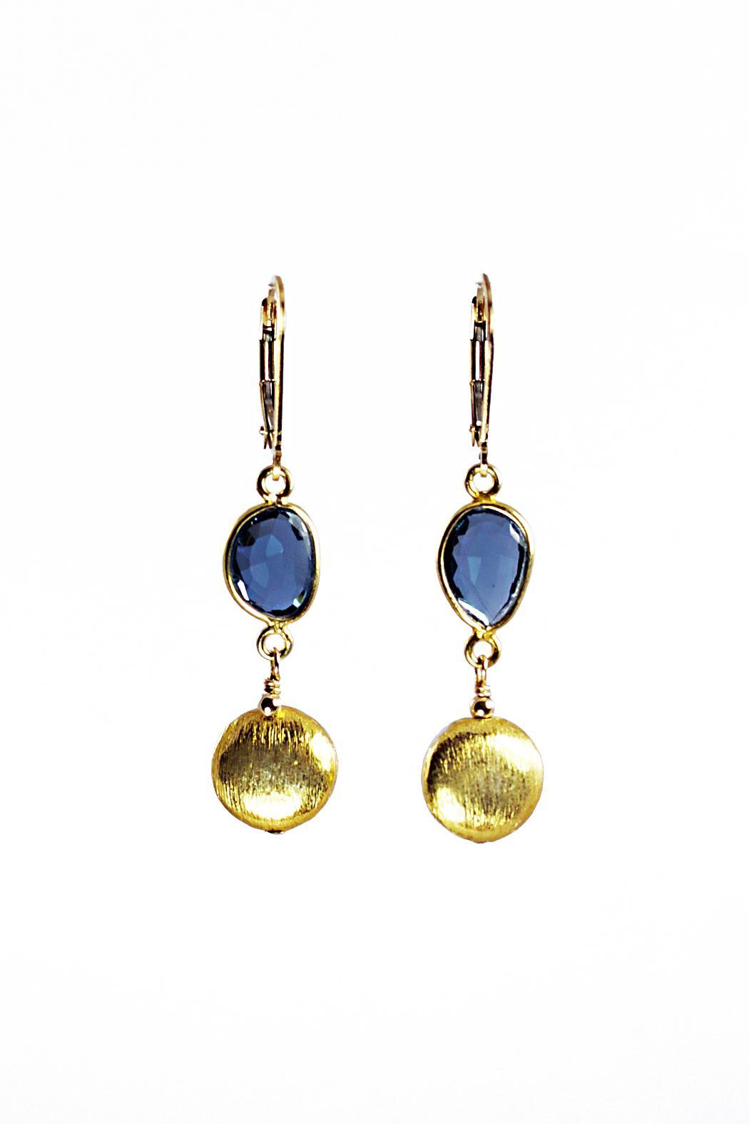 Melinda Lawton Jewelry London Blue Earrings - Main Image