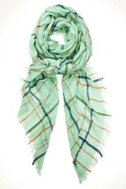 Simply Chic Plaid Pastel Scarf - Front full body