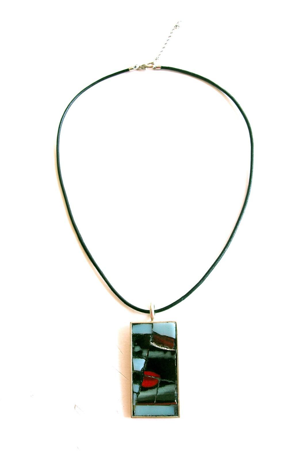 Mosaic Rectangle Pendant