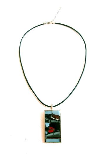 Shoptiques Product: Mosaic Rectangle Pendant - main