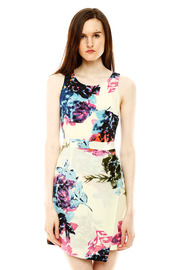Shoptiques Product: Floral Silk Dress