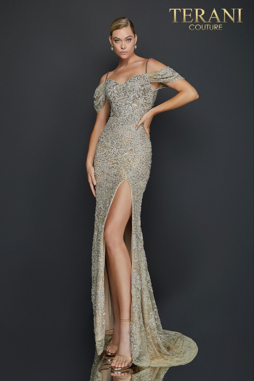 Terani Couture Lace Gown - Main Image