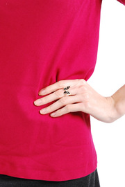 Emmanuelle Biennassis Butterfly-Shaped Adjustable Ring - Front full body