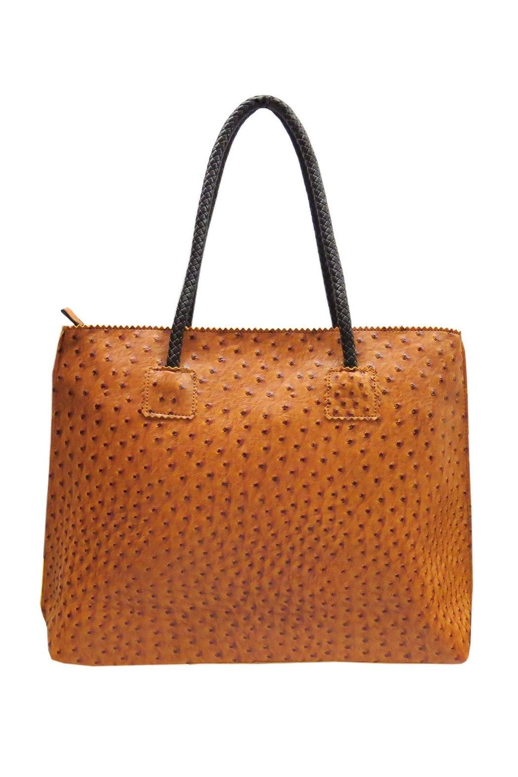22 tote Vegan Ostrich Tote - Front Cropped Image