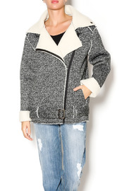 J.O.A. Faux Shearling Jacket - Front cropped