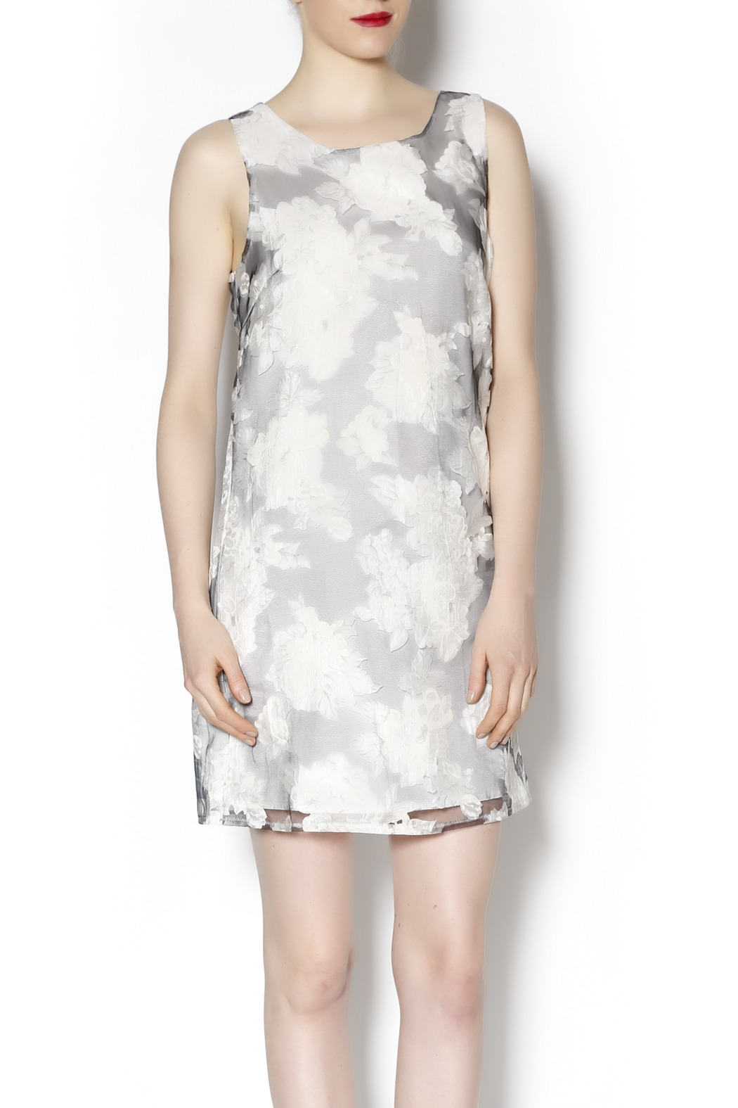 Lucy & Co. sleeveless white dress - Main Image