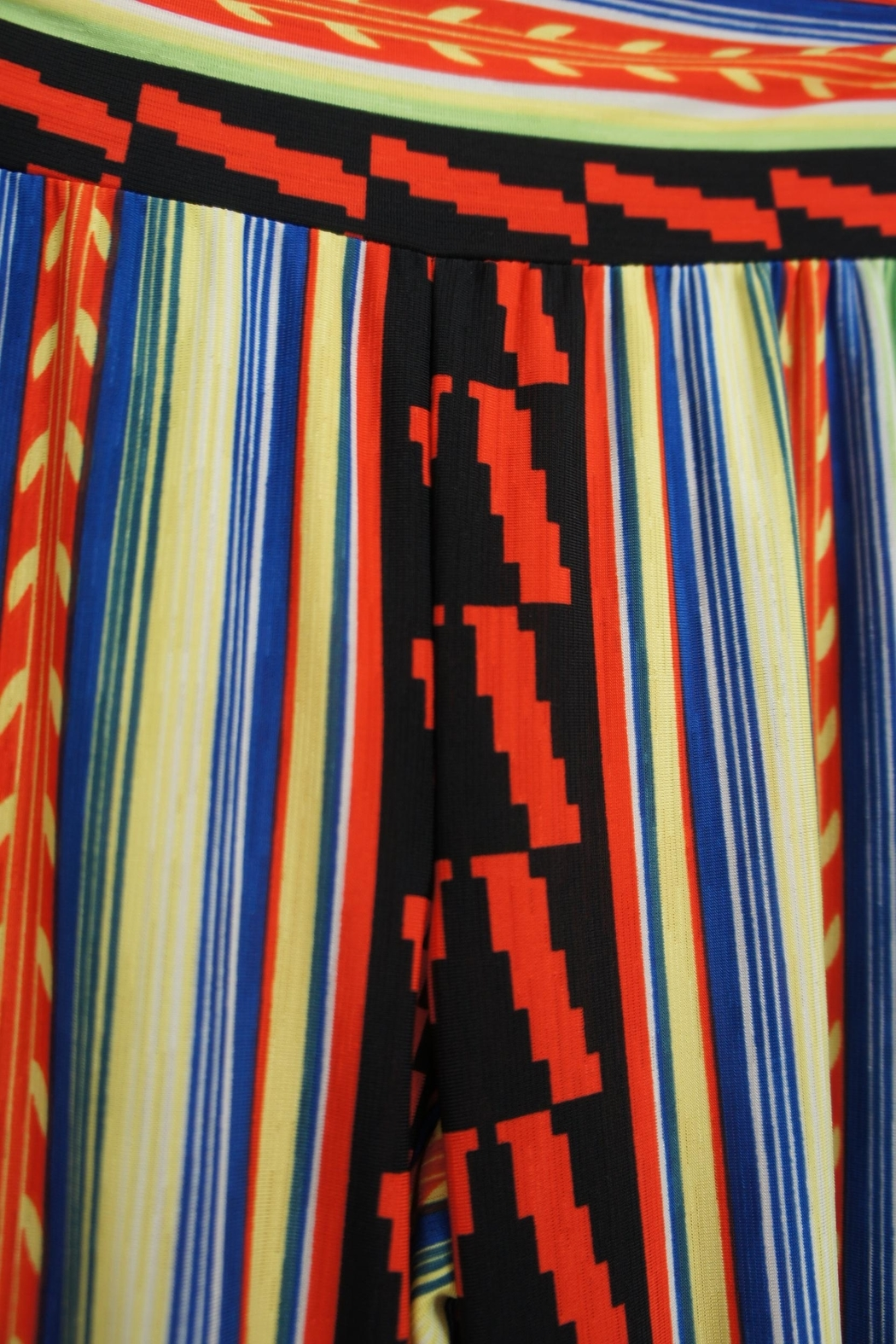 22nd Bold-Lined Print Palazzo - Side Cropped Image