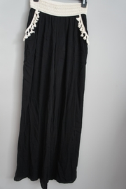 22nd Fringed-Pocket Palazzo Pants - Product Mini Image