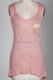 22nd Sweaterknit Lace-Trim Tanktop - Front cropped