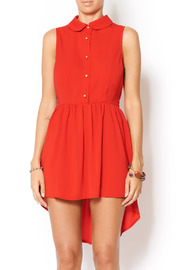 Shoptiques Product: Red Dress Gold Button