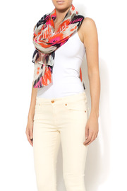 Shoptiques Product: Pink Ikat Print Scarf