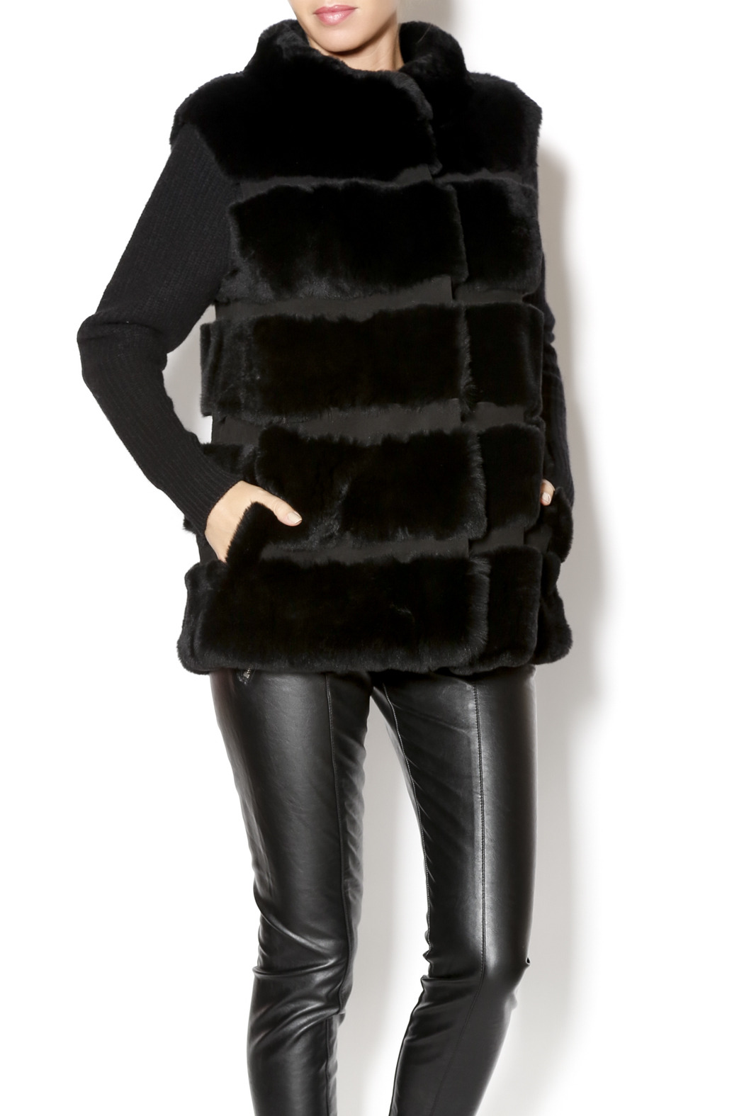 81a7cc25883f Diane von Furstenberg DVF Rabbit Fur Vest from New Jersey by Hartly ...