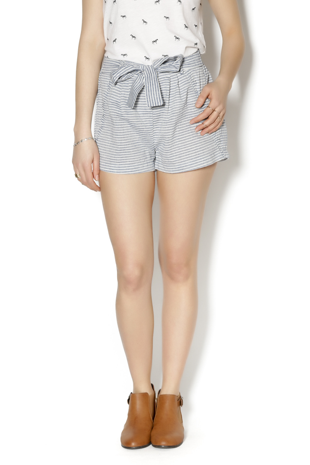 Skies Are Blue Chambray Stripe Shorts from New Jersey by Runaway ...